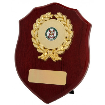 Rosewood and Gold Shield...