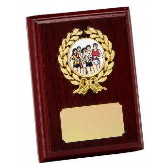 Rosewood and Gold Plaque 10cm