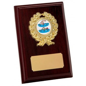 Rosewood and Gold Plaque...