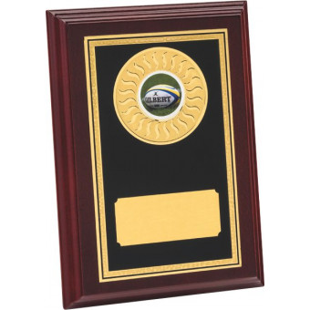 Rosewood Plaque with Brass...