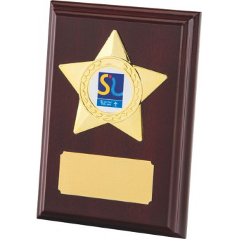 Rosewood Plaque with Gold...