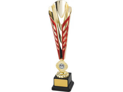 Tennis Ty-Cone Gold and Red Trophy 35cm