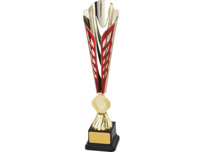 Tennis Ty-Cone Gold and Red Trophy 37cm