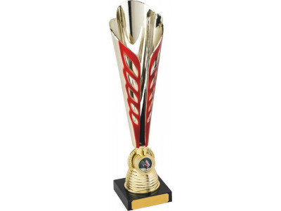Tennis Ty-Cone Gold and Red Trophy 32cm
