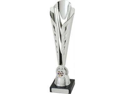Tennis Ty-Cone Silver Trophy 32cm