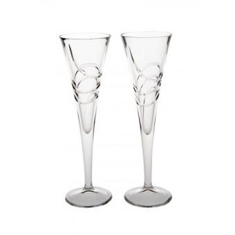 2 Flute Glasses 26cm