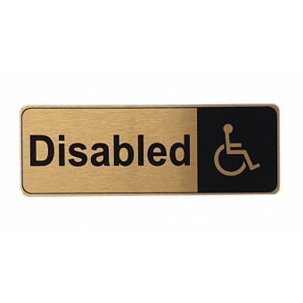 170x60mm Disabled Gold Sign