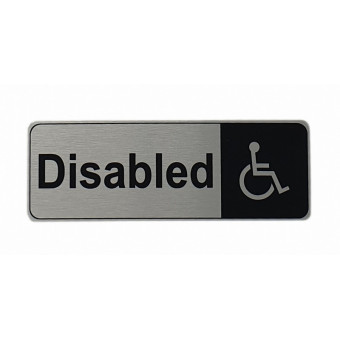 170x60mm Disabled Silver Sign