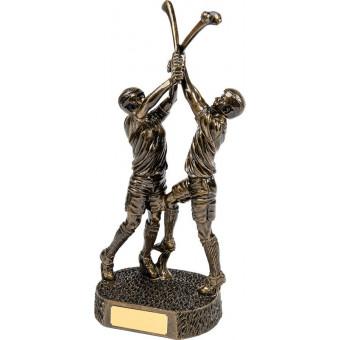 Double Bronze Hurlers 36.5cm