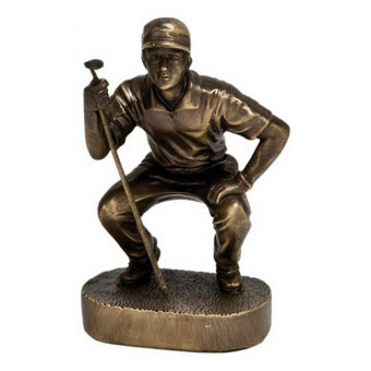Bronze Golf Trophy 17cm