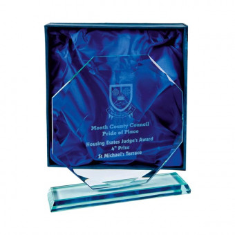 Octagon Jade Glass 22.5cm