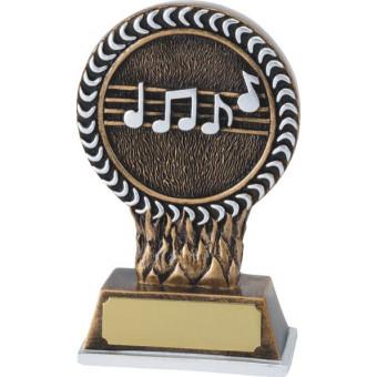 Music Resin Trophy 12.5cm
