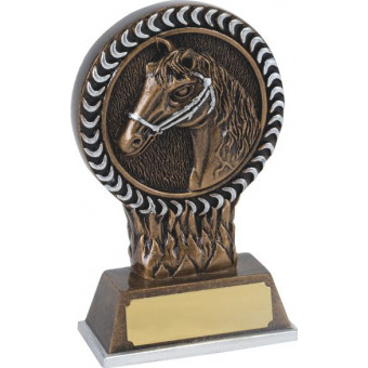 Horse Head Resin Trophy 12.5cm