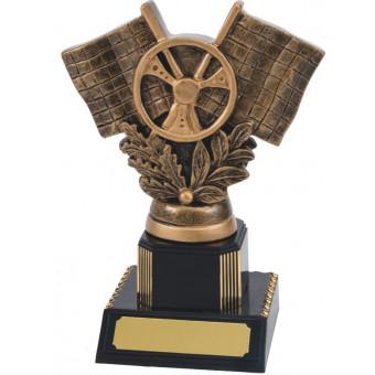 Crossed Flags Resin Trophy...