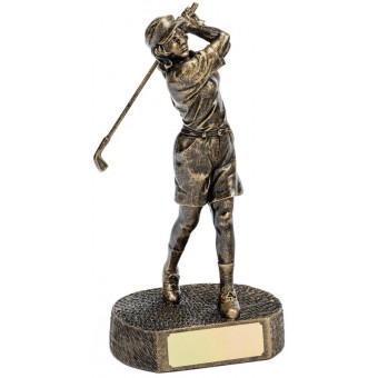 Bronze Female Golfer 24.5cm