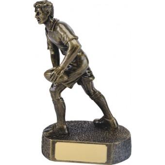 Bronze Rugby Figure 26cm