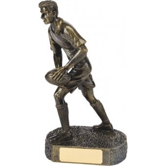 Bronze Rugby Figure Large...