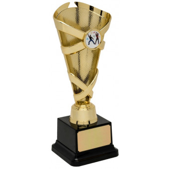 Banded Cone Gold Trophy 22cm
