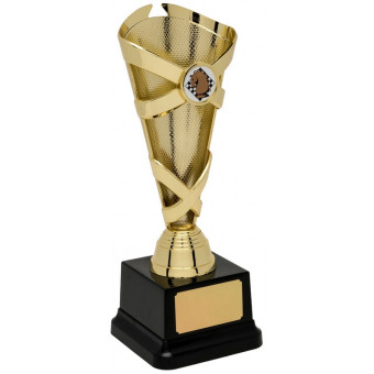 Banded Cone Gold Trophy 24.5cm