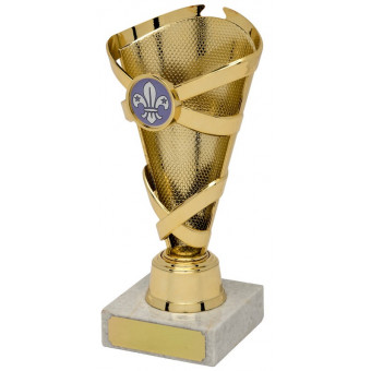 Banded Cone Gold Trophy 17cm