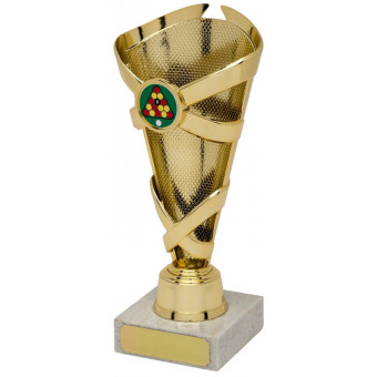 Banded Cone Gold Trophy 19cm