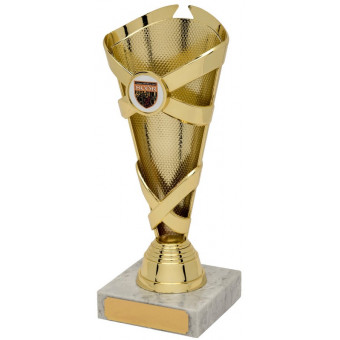 Banded Cone Gold Trophy 21cm