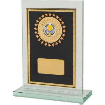 Glass Award with Brass...