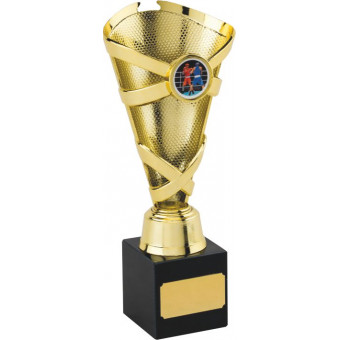 Banded Cone Gold Trophy 20cm