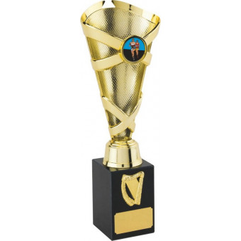 Banded Cone Gold Trophy 25cm