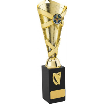 Banded Cone Gold Trophy 28.5cm
