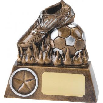 Resin Soccer Boot Trophy 13cm