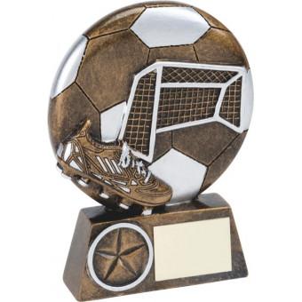 Soccer Goal Resin Trophy 13cm