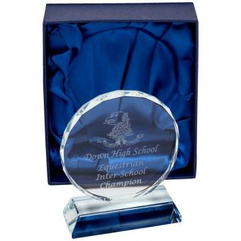 Round Clear Glass Award 12cm