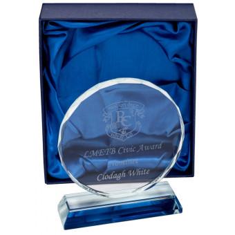 Round Clear Glass Award 14cm