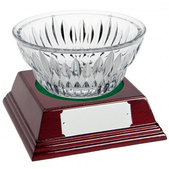 Round Crystal Bowl and Base...
