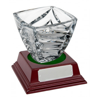 Square Crystal Bowl and...