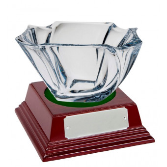 Oval Crystal Bowl and Base...